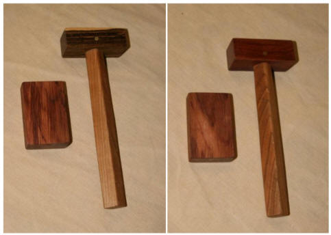 Two wood types available for hammer head, see link below for more images & details.